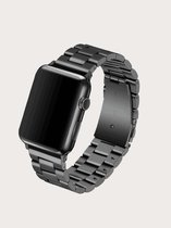 Luxe Metalen Armband Voor Apple Watch Series 1/2/3/4/5/6/SE 38/40 mm Horloge Bandje - iWatch Schakel Polsband Strap RVS - Stainless Steel Watch Band - Zwart