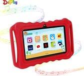 DePlay Kids Tablet - Kindertablet - Ouder Control App - Disney - Netflix Kids - Android 10.0 - 3000 Mah Batterij - Tablet Houder - Kidsproof Beschermhoes - Incl. Touchscreen Pen - Rood
