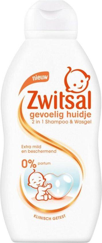 Zwitsal Gevoelig Huidje 2 In 1 Shampoo & Wasgel - 6x200ml - Voordeelverpakking