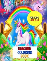 Unicorn Coloring Book for Kid Ages 4-8