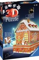 Ravensburger Kerst Gingerbread House Night Edition - 3D puzzel gebouw - 216 Stukjes