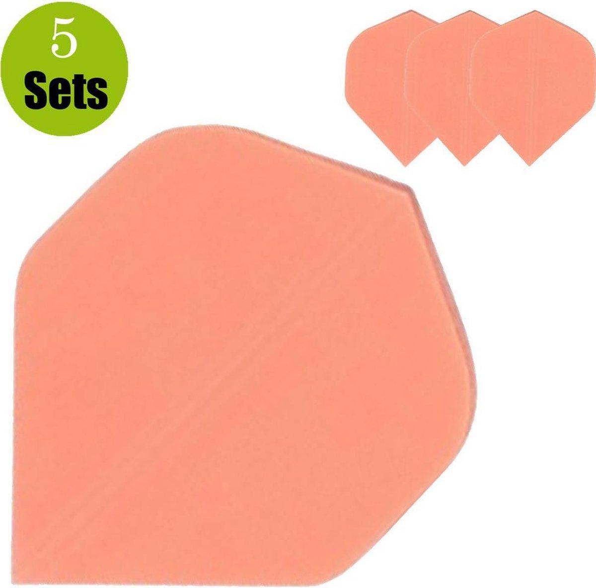 Poly Plain Dartflights - Fluor Oranje- (5 Sets)
