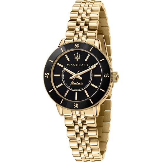 Maserati Dames Watches analoog zonne One Size Goud / Zwart 32016052