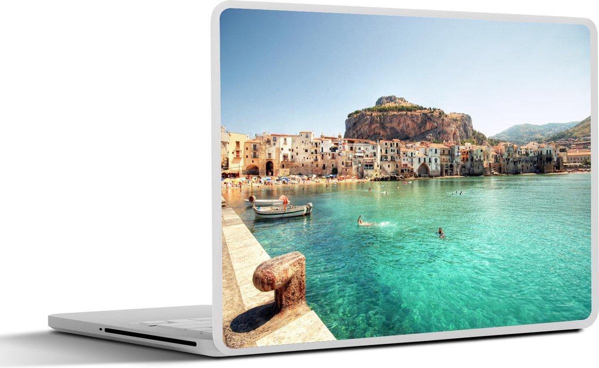 Laptop sticker - 12.3 inch - Haven aan de Middellandse zee
