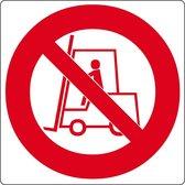 """Vloerpictogram """"verboden voor heftrucks""""  Wit & Rood   Anti-slip-vloersticker"""
