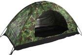tent -magt camping tent - waterdichte one person tent - outdoor camouflage uv-bescherming voor kamperen wandelen (200 x 100 x 100 cm) (kleur: groen) - (WK 02123)