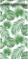 ESTAhome behang tropische bladeren groen - 139013 - 0.53 x 10.05 m