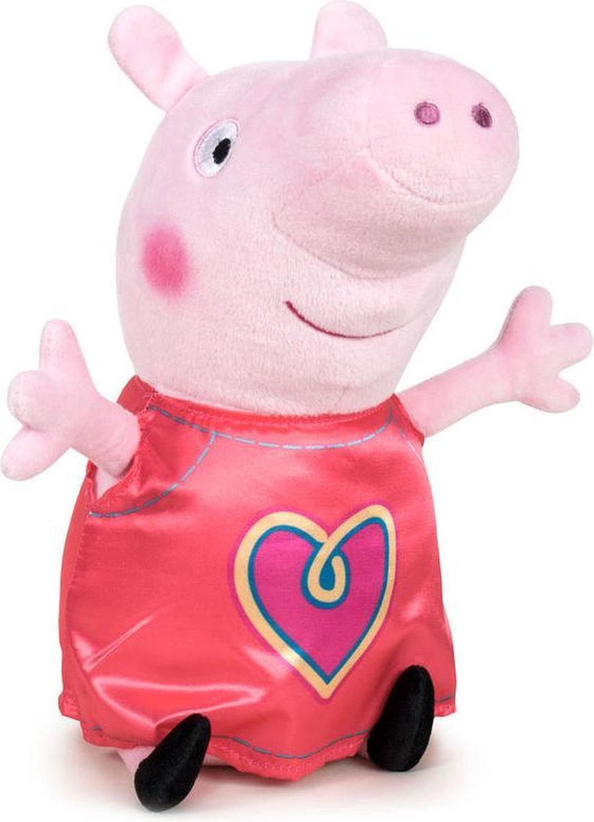Peppa Pig Hartje Pluche Knuffel 20cm