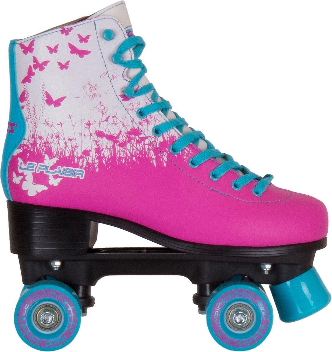 Roces Rolschaatsen - Maat 36Volwassenen - roze - blauw - wit