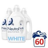 Neutral 0% Wit Parfumvrij Wasmiddel - 3 x 20 wasbeurten - Voordeelverpakking