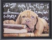 Schootkussen/laptray bordeaux hond puppy print 43 x 33 cm - Schoottafel - Dienblad voor op schoot - Bordeauxdog - Bordo dog