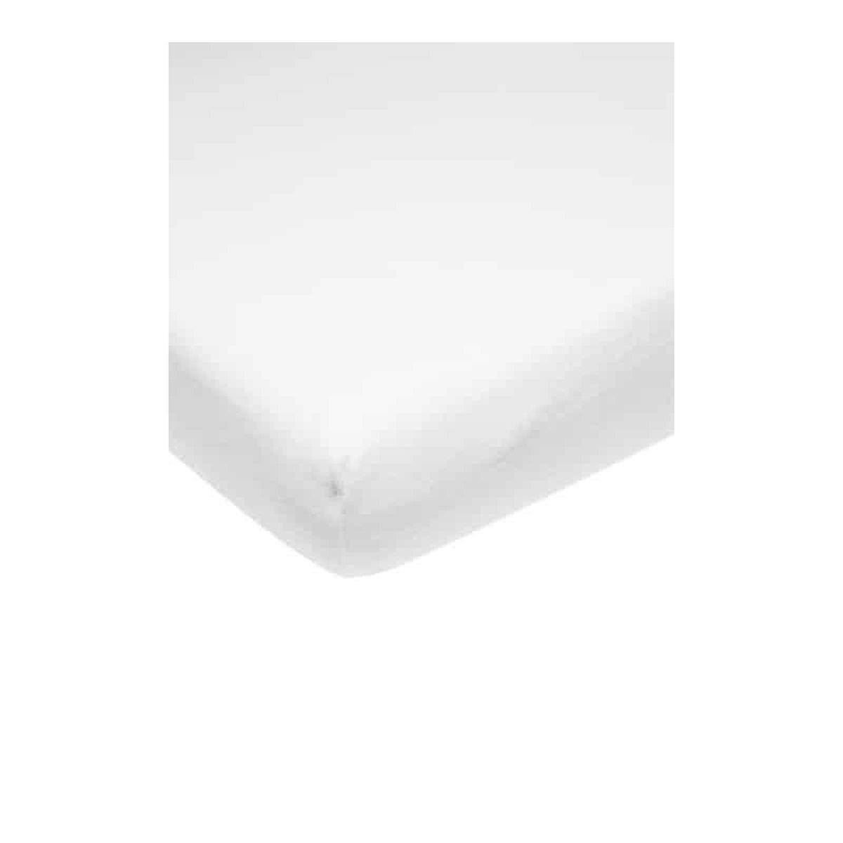 Meyco molton stretch hoeslaken co-sleeper - 50x90 cm - wit