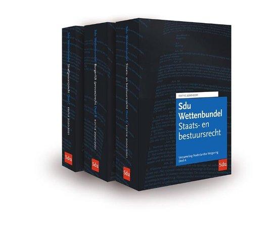 Boek cover Educatieve wettenverzameling - Sdu Wettenbundel 2020-2021 (set 3 ex) van  (Paperback)