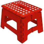 FRANDIS opvouwbare voetenbank 29x22x22cm rood