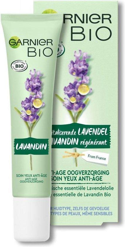 Garnier Bio Anti-age Oogcrème - 15 ml - Alle huidtypes - Revitaliserende Lavendel