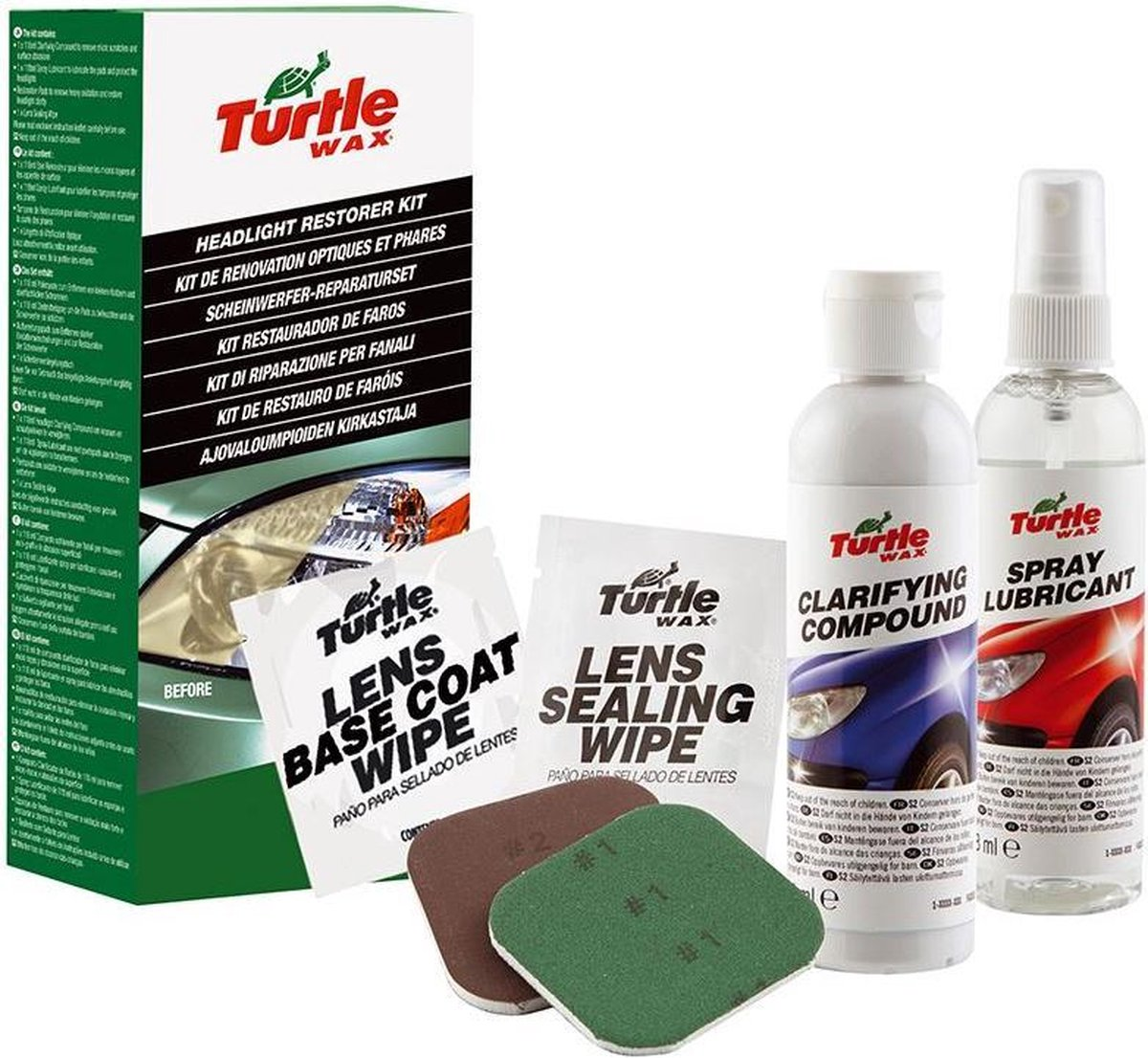 Turtle Wax Headlight Lens Restorer Kit - Lampenreiniger
