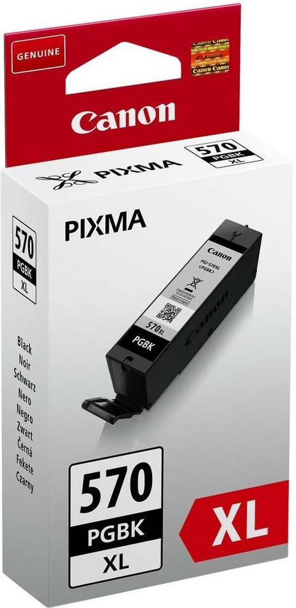 Canon PGI-570XL - Inktcartridge / Zwart / Hoge Capaciteit