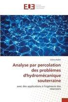 Analyse par percolation des problemes d'hydromecanique souterraine