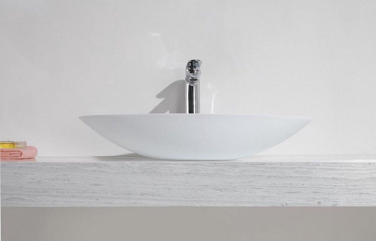 Wiesbaden Waskom Solid Surface ovaal 59 x 35 x 11 cm