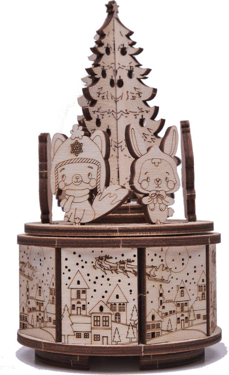 Wood Trick Christmas Dance - Houten Modelbouw - Muziekdoos