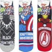 Avengers - Anti Slip badstof sokken Multipack Unisex Maat 31-34