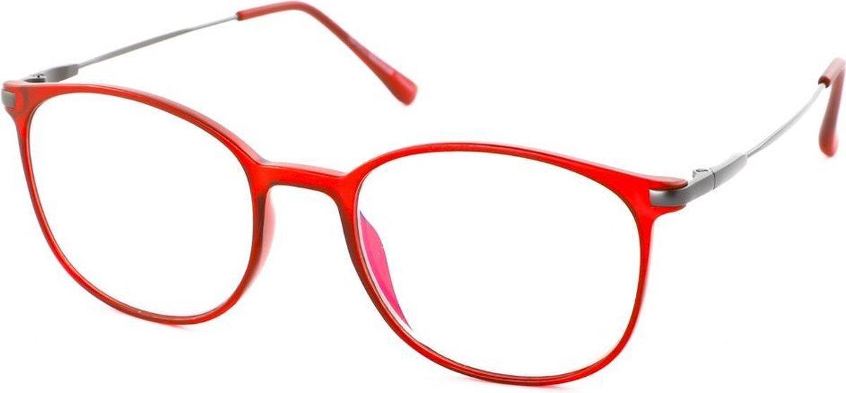 Leesbril Ofar Office Multifocaal CF0003C rood met blauwlicht filter +1.00 kopen