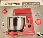 Gourmetmaxx keukenmachine - roeren, mixen en kneden - Rood