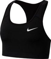 Nike sport bh swoosh - zwart - maat M