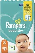 Pampers luiers baby dry maat 3 midi (5-9kg)