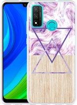 Huawei P Smart 2020 Hoesje Color Paint Wood Art