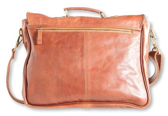 Tassen   The Pearsons Laptop bag Heren Aktetas Cognac