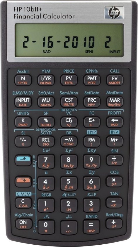 HP Calculator - 10BII NL/DE/IT/FR