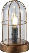 Trio Lighting BIRTE - Tafellamp - E14 fitting, 40W max - Antiek koper