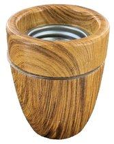 Lamphouder E27 Porselein - Kleur donker hout
