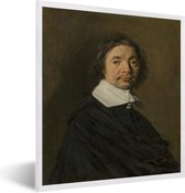 Foto in lijst - Portret van een man - Kunstwerk van Frans Hals fotolijst wit 40x50 cm - Poster in lijst (Wanddecoratie woonkamer / slaapkamer)