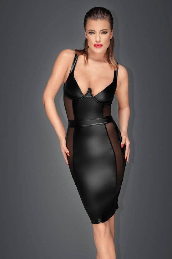 Spiksplinternieuw bol.com   Wetlook strakke jurk met transparante inzetten - medium OI-09