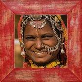 Henzo India - Fotolijst - Fotomaat 30x30 cm Rood