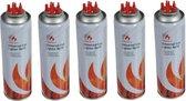 5x Aansteker gas / butaan gasfles 250 ml - Multi