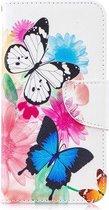 Shop4 - Samsung Galaxy S10e Hoesje - Wallet Case Gekleurde Vlinders