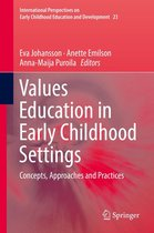 Omslag Values Education in Early Childhood Settings