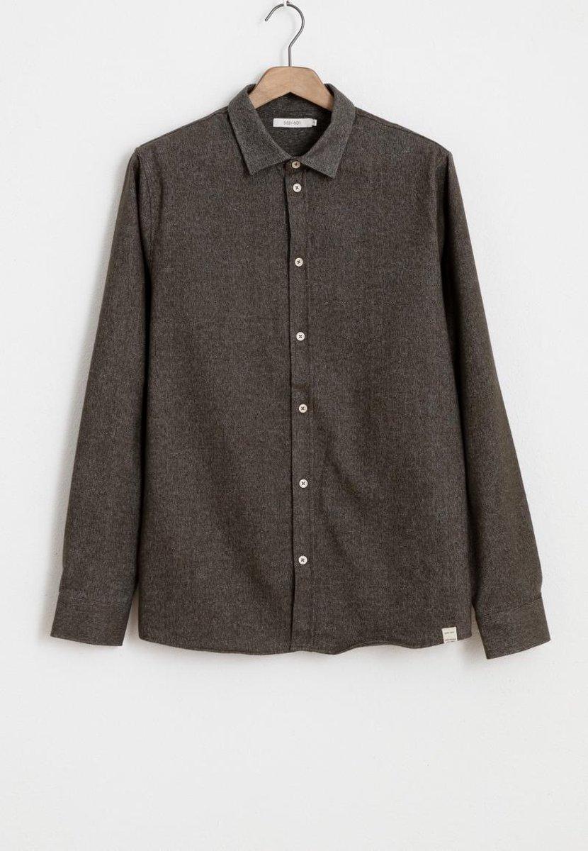 Sissy-Boy - Groen/grijs overhemd wol look
