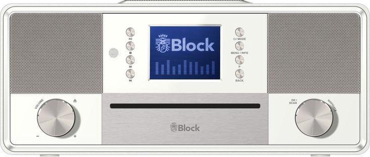 Audioblock SR-50 radio Internet Digitaal Wit