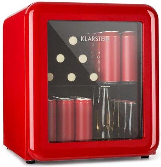 Koelkast: Klarstein PopLife drankenkoeler koelkast - temperatuur instelbaar van 0-10 °C - Led verlichting - rond retrodesign, van het merk Klarstein