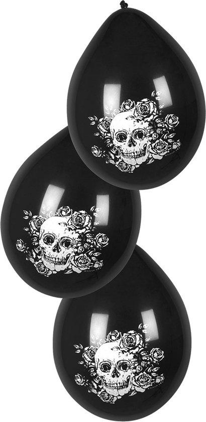 Boland - Decoratie - Halloween Latex Ballonnen Day of The Dead 25cm 6 stuks Zwart