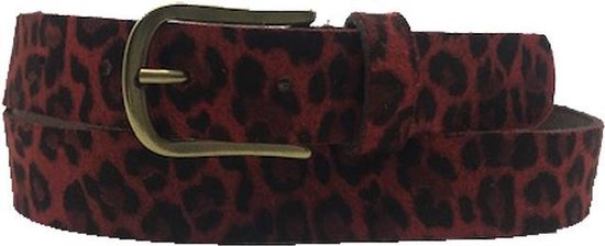 Rode riem – Leopard V45 Red Dames riem – Broekriem Dames – Dames riem – Dames riemen – heren riem – heren riemen – riem – riemen – Designer riem -…