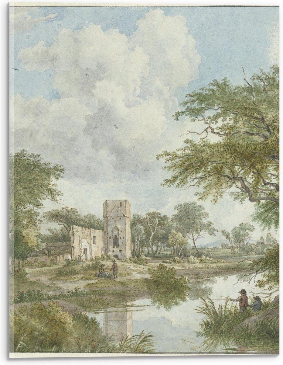 Plexiglas - Oude meesters - Landschap met kasteelru ne, Wybrand Hendriks - 30x40cm Foto op Plexiglas (Wanddecoratie op Plexiglas)