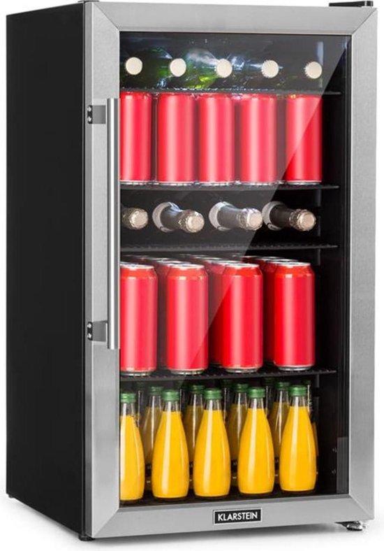 Koelkast: Beersafe 3XL koelkast 98L 4 schappen 7 standen zwart, van het merk Klarstein