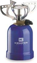 Kemper Gaskooktoestel met 4 steunen 2050W Blauw