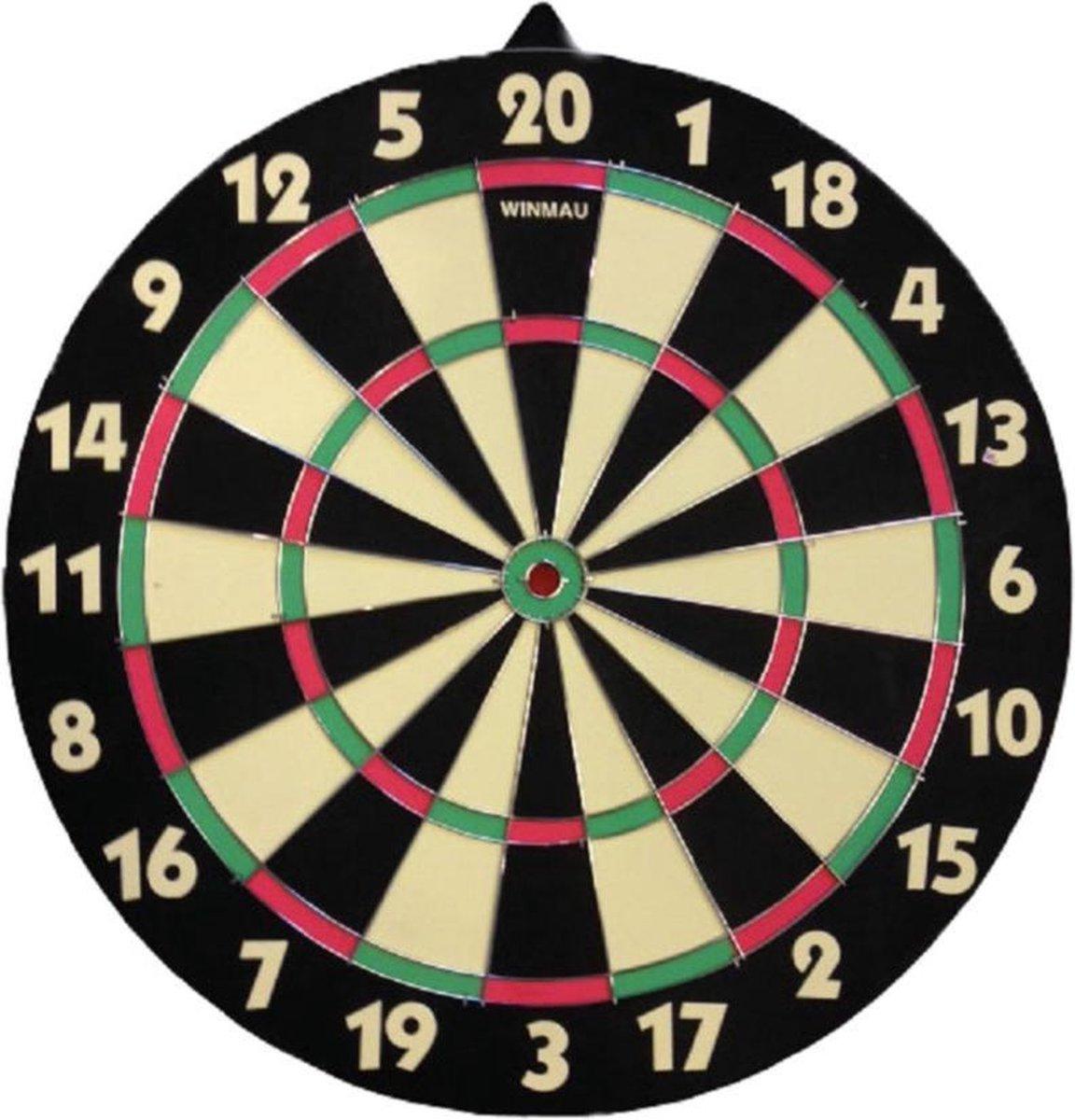 Dartbord 42 cm dubbelzijdig voor kinderen - Dubbelzijdig familie dartboard - Darten voor thuis