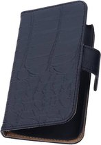 Wicked Narwal | Croco bookstyle / book case/ wallet case Hoes voor sony Xperia Z3 D6603 Zwart